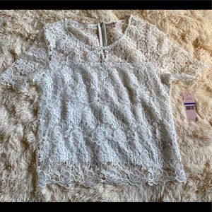 NWT Anthro Nanette Lepore White Lace Blouse